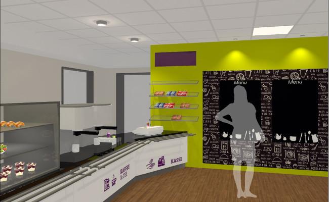 Cafeteria in planung oberhausen objekt id planungs for Innenarchitektur oberhausen