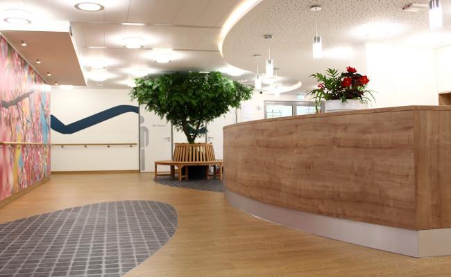 LWL Klinik Hemer E18 Theke, Empfang, Eingang, bl. Band